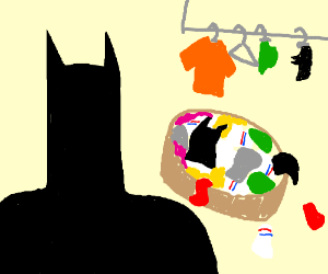 Batman does his laundry