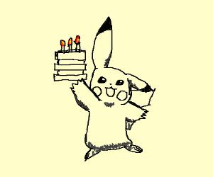 Pokémon magically creates cake