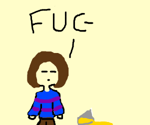 frisk(might be wrong) drops orange juice.