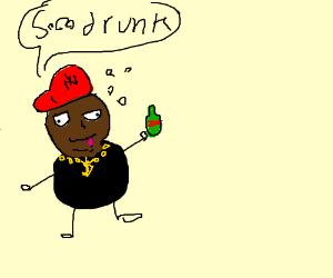Drunk rapper