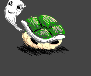 Ghost happily inhabits abandoned Koopa shell