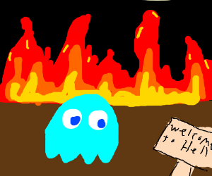 Blue ghost in hell