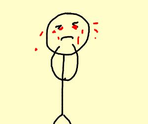 stickman cries blood
