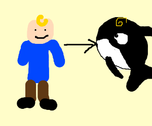 Kid turns into killer whale