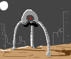Sentient tripod with moustache