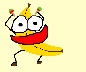 Peanut butter jelly and a baseball cap/banana