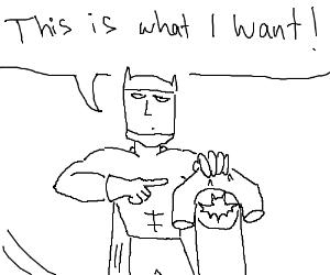 Batman wants a t shirt of his logo