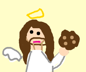 Jesus finds a cookie crumb
