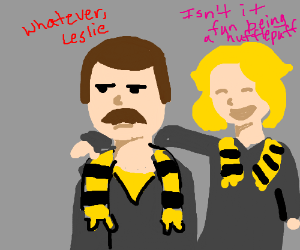 Ron Swanson is sorted into Hufflepuff