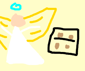 Angel Baking Cookies...?