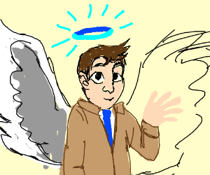 castiel with a blue halo