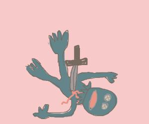 murderer puppet.