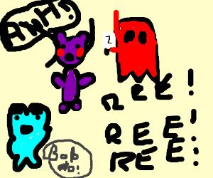 ghost kills purple teddy bear