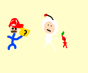 mario and the pikmin astronaut fuse
