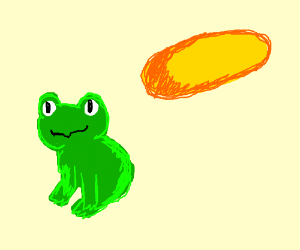 Sun is deflating but it's cool because frog