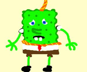 suicidal green spongebob