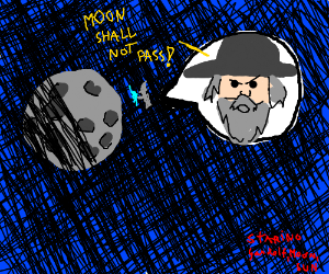 Gandalf VS the moon (the movie)