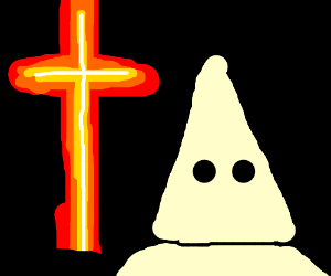 Triple K Member Burning A Cross