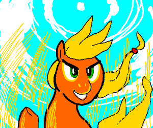 MLP Pony goes super sayan