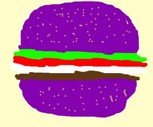 Purple burger