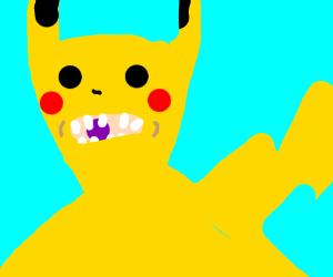pikachu chewing bubblegum