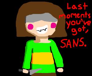 Sans' last moments.