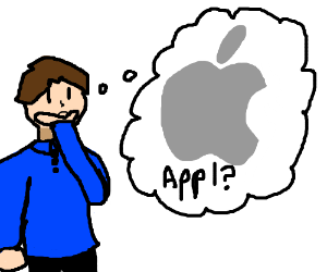 Man thinks the company Apple is an actual Appl