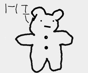 Teddy bear says hi