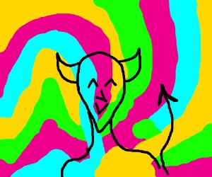 Psychedelic demon
