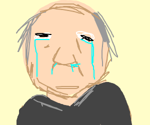 Crying old man.