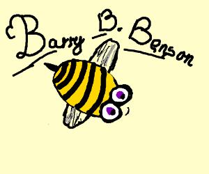 bee with big anime eyes