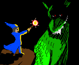 Wizard fights dragon