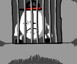 """Humpty Dumpty sat behind bars"""