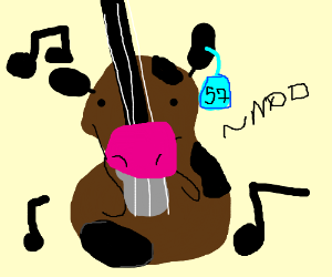 a violin that is also a cow