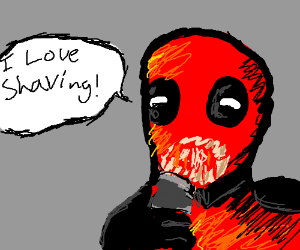 deadpool shaving