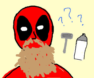 Does Deadpool shave?