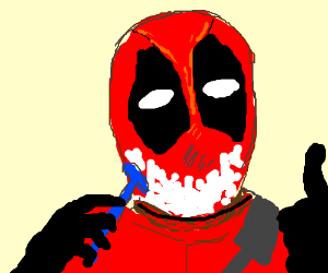 Deadpool shaves
