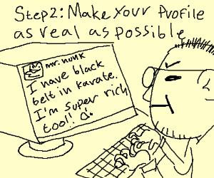 Step 1: Make an account (cont. sent.)