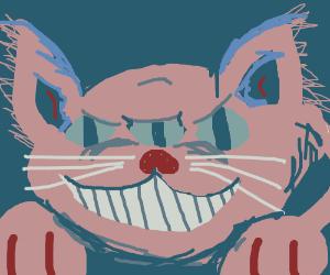 sinister 3-eyed feline
