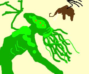 Cthulhu vs. Flying Mammoth