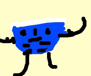 Underwear man flexes abs