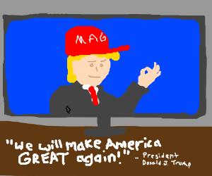 Watching God Emperor Trump's epic speech