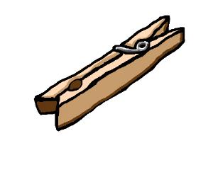 A clothespin