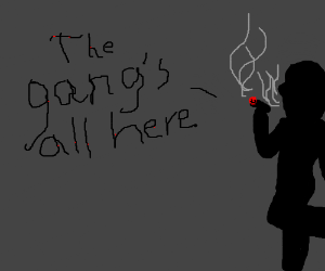 The gang's all here, says the creepy shadow