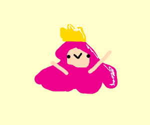 Princess Bubblegum as a slime