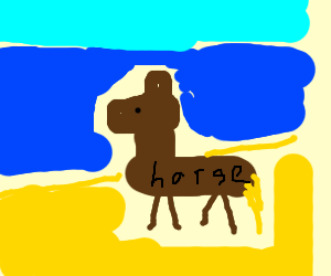 horsey in the beach yehaw