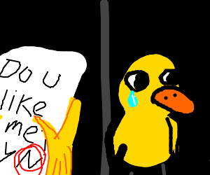 girl has to reject her duck lover's feelings