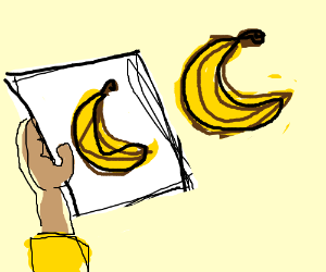 Compare a banana to the last drawling you made