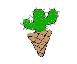 icecream cone w cactus flavor (spiky)