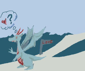 Dragon looking for love. The wrong way.